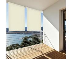 Sonnenschutz Sichtschutz Balkonrollo Windschutz Polyester Balkonsichtschutz