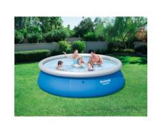 Bestway Fast Set Pool 396 x 84 cm, aufblasbarer Aufstellpool, blau, rund, ohne Pumpe und ...