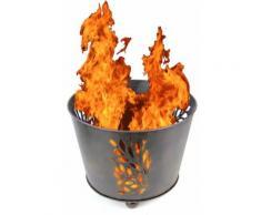 Riesen Design silber Feuer-Korb XL Vintage 45cm Feuer-Schale Garten-Kamin Grill-Feuer Feuer-Stelle
