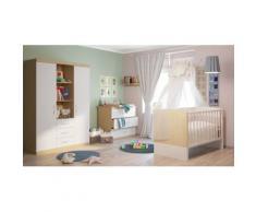 Polini Kids Kinderzimmer komplett Classic Eiche-weiß-glanz
