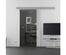 Glasschiebetür Rekursiv-Design (R) Schiebetür | 1025 x 2050 mm Glasgröße | Basic-Alu-Schienensystem