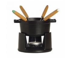 Staub - Mini Fondue-Set, Ø 10 cm, schwarz, 40509-587 / 1400423