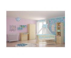 Polini Kids Baby Kinderzimmer komplett in natur Ahorn 4-teilig
