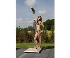 Gartendusche Helena Kalt- und Warmwasserdusche mit Holzrost