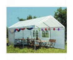 Siena Garden 556369 Partyzelt 3x6 m PE, weiß inklusive Dach und Seitenteilen weiß