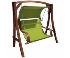 Design Hollywoodschaukel Gartenschaukel Meru Grün aus Holz Lärche inkl. Abdeckung von As-S