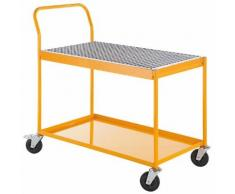 Quipo Industrie-Tischwagen - mit 60-l-Auffangwanne - Tragfähigkeit 150 kg - QUIPO-Transportgerät