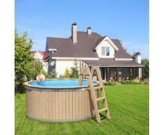 Holzpool von Isidor, Swimmingpool Carl mit Holzleiter Größe 240x107cm