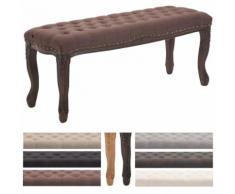 Sitzbank Nefertiti mit hochwertiger Polsterung und Stoffbezug I Polsterbank mit Holzgestell im