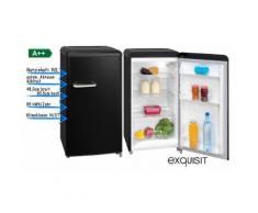 Retro Kühlschrank Vollraum Kühlschrank Kompakt LED A++ 92l Schwarz