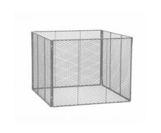 Siena Garden Komposter 800x800x700 feuerverzinkt, Streckmetall, 4teilig **neu**
