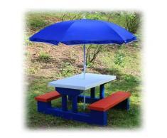 Kinder Sitzgruppe mit Sonnenschirm