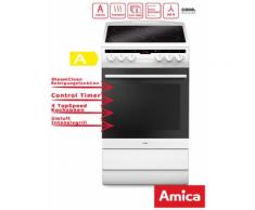 Elektro Standherd 50cm Weiss Grill Umluft Timer Amica SHC 11578 W