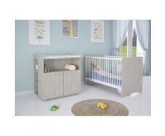 Polini Kids Kinderzimmer 6-teilig Kinderbett mit Kommode und Matratze
