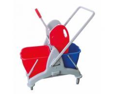 CleanSV® Zweieimer - Kunststoff - Reinigungswagen, Putzwagen mit Moppresse, 2 18 Liter ...