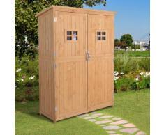 Geräteschuppen Gerätehaus Geräteschrank mit Pultdach Garten Holz H164cm Natur