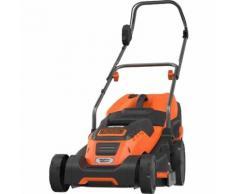 Black+Decker Rasenmäher EMAX42i, Compact&Go, 1.800Watt, orange/schwarz, Set mit Rasentrimmer Gl250