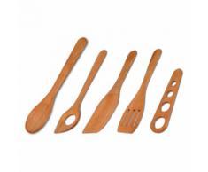 20 x 5-tlg. Kochset Küchenset Koch - Set Küchenhelfer aus Kirschholz Länge 23 - 30 cm