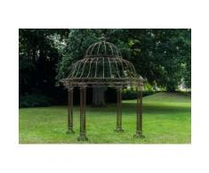 Garten Pavillon Palais l Runder Rankpavillon Ø 370 cm, Höhe 440 cm l Stabiles Eisen (Metall)