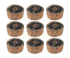 9x Einweggrill - Bio Holzgrill - 100% nachwachsende Rohstoffe - 100% Naturprodukt