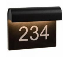 Hausnummernleuchte Thesi in schwarz, Ip54, inkl. LED