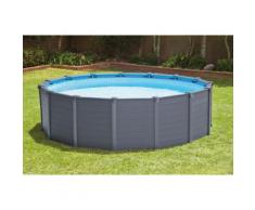 Intex Graphite Panel Pool Aufstellpool Set in Holzoptik, 26382Gn