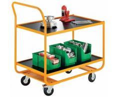 Quipo Industrie-Tischwagen - 2 Ladeflächen LxB 1020 x 590 mm - Tragfähigkeit 250 kg -
