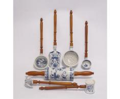 Porzellan Deko Küchenhelfer mit Holz