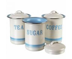 Aufbewahrungsdosen 3er-Set Nostalgie für Kaffee, Zucker, Tee