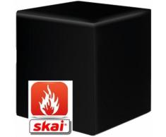 Sitzwürfel schwarz B1 schwer entflammbar 35 cm x 35 cm x 45 cm