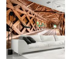 250x175 cm Fototapete Die Holzbrücke