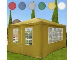 Festzelt Pavillion Partyzelt Gartenpavillon inkl. 4 Seitenwände 4 x 3 x 2,5 cm wasserabwei...