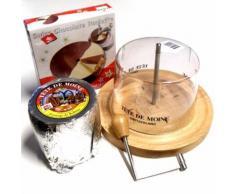 Set Choco Roulette halb und halb Tete de Moine Käsehobel Haube