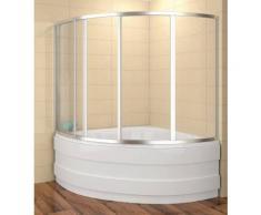 Badewannenaufsatz 120x120cm Duschbadewanne 120x120x135 cm (LxBxH) Duschabtrennung Badewanne 4-teilig