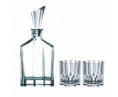 Nachtmann Aspen Whisky Set, 3-tlg., Barware, Dekanter und Whiskygläser, Tumbler, Kristallglas, 00900