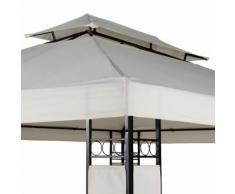 Gartenpavillon Partyzelt aus Stahl 3 x 4x 2,7m (Farbwahl)