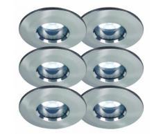 6er Set Ip65 LED Einbauleuchten inkl. 5W Neutralweiß LED Leuchtmittel Gu10 Sockel Badlampen Duschkab