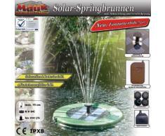 Solar Springbrunnenpumpe Pumpe Springbrunnen Scheibe schwarz Deko (B-Ware)