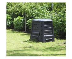 KHW Thermo-Komposter 340 Liter ohne Boden mit Deckel, anthrazit - 75 x 75 x 87 cm