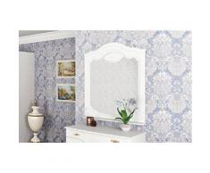 Wandspiegel Schlafzimmer Spiegel Garderobenspiegel 93cm weiß Halbglanz