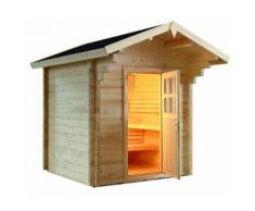 Sentiotec Domo Sauna Country 230x230x290cm Saunakabine Außensauna