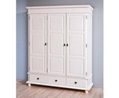 Kleiderschrank Danz 3 Schrank mit 3 Türen Kiefer weiß lackiert