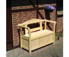Friesenbank mit Kissenbox Sitztmöbel Stauraum Holz Gartenmöbel