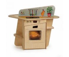 Kissenbox Universalbox Holzoptik Kunststoff Schoko/creme 390 Liter