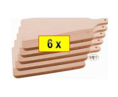 6x Raclette-Brettchen,Pizza-Brett,Bruschetta-,Fonduebrett, Picknick Bruschetta-