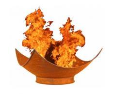 Feuer-Schale Pflanz-Schale Terrassen-Ofen Edelrost Designer rusty Garten-Kamin Feuer-Korb Feuer-Ste