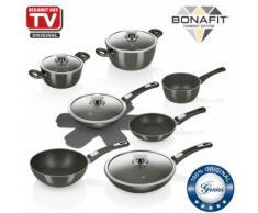 Genius Bonafit | 13 Teile| Töpfe und Pfannen inkl. Pasta-Pfanne | Bekannt aus TV | NEU