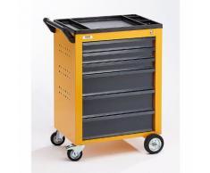 Quipo Werkzeugwagen - 6 Schubladen mit Einzelarretierung - HxBxT 930 x 630 x 410 mm, gelb -