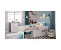 Polini Kids Kinderzimmer Jugendzimmer Set 2-teilig Bett mit Kommode