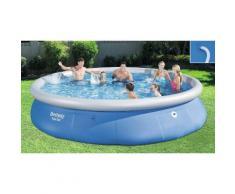 Bestway Fast Set Pool 457 x 84 cm, aufblasbarer Aufstellpool, blau, rund, ohne Pumpe und ...